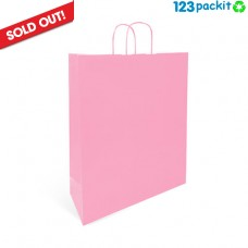 ♻ Light Pink Twisted Handles Carriers