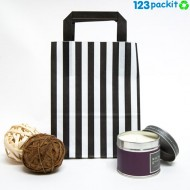 Black striped candy bags with handles