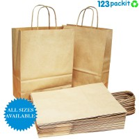 ♻ Brown eco-friendly carrier bags twisted handles size S , M & L ♻
