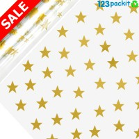 ★ Golden Star Cellophane Wrap Roll 100mt / 320 ft ★