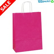 ♻ Shock Pink Twisted Handles Carriers