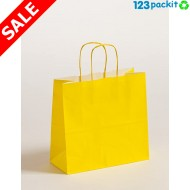 ♻ Yellow carrier bags eco-friendly with twisted handles size M