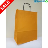 ♻ Orange Carrier with Twisted Handles